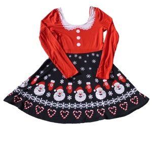 Womens Derek Heart Santa Claus Xmas Dress NWT